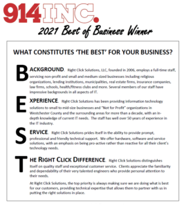 Right Click Solutions Wins Best of Business